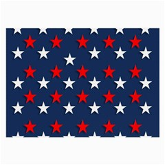 Patriotic Colors America Usa Red Large Glasses Cloth (2 Side)