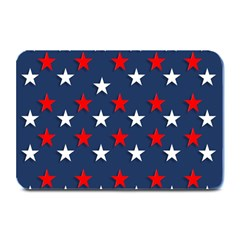 Patriotic Colors America Usa Red Plate Mats