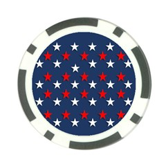 Patriotic Colors America Usa Red Poker Chip Card Guard (10 Pack)