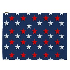 Patriotic Colors America Usa Red Cosmetic Bag (xxl)