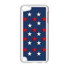 Patriotic Colors America Usa Red Apple Ipod Touch 5 Case (white)