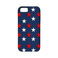 Patriotic Colors America Usa Red Apple Iphone 5 Classic Hardshell Case (pc+silicone)