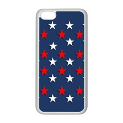 Patriotic Colors America Usa Red Apple Iphone 5c Seamless Case (white)