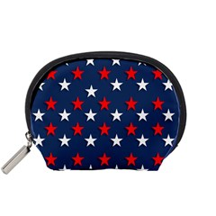 Patriotic Colors America Usa Red Accessory Pouches (small)