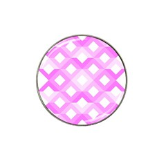 Geometric Chevrons Angles Pink Hat Clip Ball Marker (10 Pack)