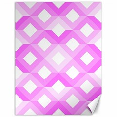 Geometric Chevrons Angles Pink Canvas 18  X 24