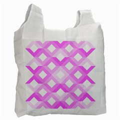 Geometric Chevrons Angles Pink Recycle Bag (two Side)
