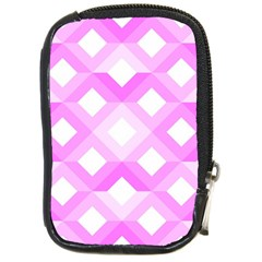 Geometric Chevrons Angles Pink Compact Camera Cases