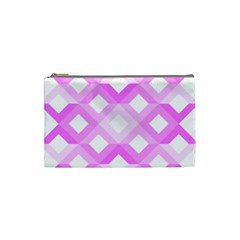 Geometric Chevrons Angles Pink Cosmetic Bag (small)