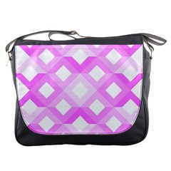 Geometric Chevrons Angles Pink Messenger Bags