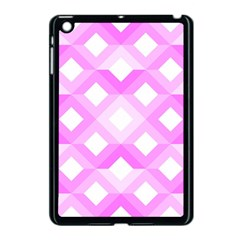 Geometric Chevrons Angles Pink Apple Ipad Mini Case (black)