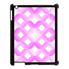 Geometric Chevrons Angles Pink Apple Ipad 3/4 Case (black)