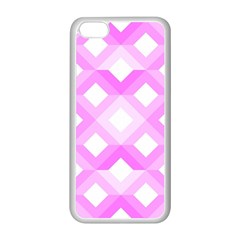 Geometric Chevrons Angles Pink Apple Iphone 5c Seamless Case (white)