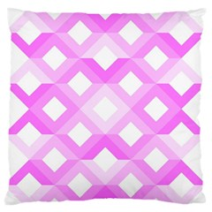 Geometric Chevrons Angles Pink Standard Flano Cushion Case (two Sides)