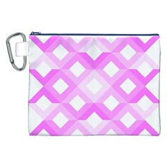 Geometric Chevrons Angles Pink Canvas Cosmetic Bag (xxl)
