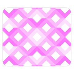Geometric Chevrons Angles Pink Double Sided Flano Blanket (small)