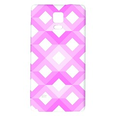 Geometric Chevrons Angles Pink Galaxy Note 4 Back Case
