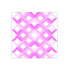 Geometric Chevrons Angles Pink Satin Bandana Scarf