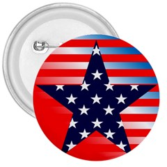 Patriotic American Usa Design Red 3  Buttons
