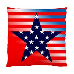 Patriotic American Usa Design Red Standard Cushion Case (two Sides)