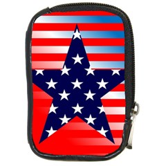 Patriotic American Usa Design Red Compact Camera Cases