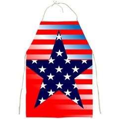 Patriotic American Usa Design Red Full Print Aprons