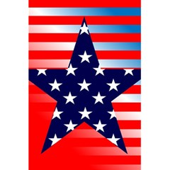 Patriotic American Usa Design Red 5 5  X 8 5  Notebooks