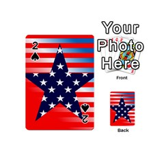 Patriotic American Usa Design Red Playing Cards 54 (mini)