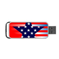 Patriotic American Usa Design Red Portable Usb Flash (two Sides)