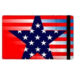 Patriotic American Usa Design Red Apple Ipad 2 Flip Case