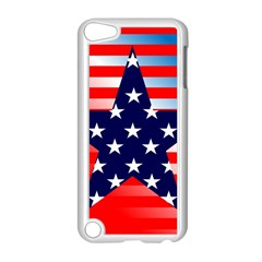 Patriotic American Usa Design Red Apple Ipod Touch 5 Case (white)