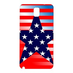 Patriotic American Usa Design Red Samsung Galaxy Note 3 N9005 Hardshell Back Case
