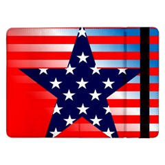 Patriotic American Usa Design Red Samsung Galaxy Tab Pro 12 2  Flip Case