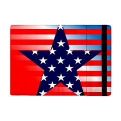 Patriotic American Usa Design Red Ipad Mini 2 Flip Cases
