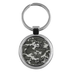 Camouflage Pattern Disguise Army Key Chains (round)