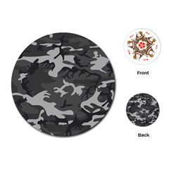 Camouflage Pattern Disguise Army Playing Cards (round)