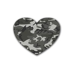 Camouflage Pattern Disguise Army Heart Coaster (4 Pack)