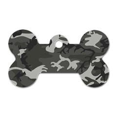 Camouflage Pattern Disguise Army Dog Tag Bone (one Side)