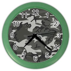 Camouflage Pattern Disguise Army Color Wall Clocks