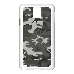Camouflage Pattern Disguise Army Samsung Galaxy Note 3 N9005 Case (white)