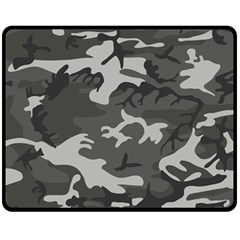 Camouflage Pattern Disguise Army Double Sided Fleece Blanket (medium)