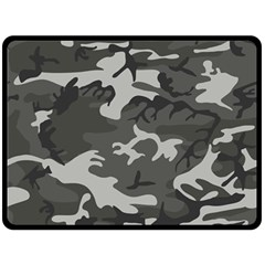 Camouflage Pattern Disguise Army Double Sided Fleece Blanket (large)
