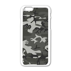 Camouflage Pattern Disguise Army Apple Iphone 6/6s White Enamel Case