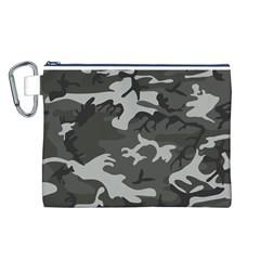Camouflage Pattern Disguise Army Canvas Cosmetic Bag (l)