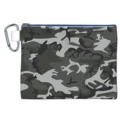 Camouflage Pattern Disguise Army Canvas Cosmetic Bag (xxl)
