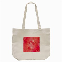 Pink Hearts Pattern Tote Bag (cream)