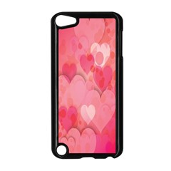 Pink Hearts Pattern Apple Ipod Touch 5 Case (black)