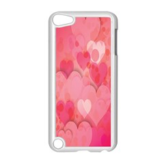 Pink Hearts Pattern Apple Ipod Touch 5 Case (white)