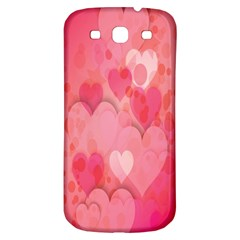 Pink Hearts Pattern Samsung Galaxy S3 S Iii Classic Hardshell Back Case