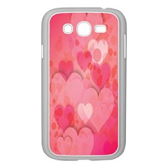 Pink Hearts Pattern Samsung Galaxy Grand Duos I9082 Case (white)